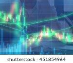 double exposure of stocks...   Shutterstock . vector #451854964