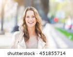 portrait of a beautiful young... | Shutterstock . vector #451855714