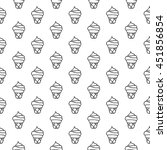 cartoon ice cream pattern with... | Shutterstock .eps vector #451856854