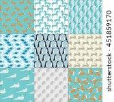 Set Of Nine Seamless Patterns...