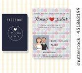 passport design wedding... | Shutterstock .eps vector #451863199