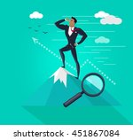businessman searching for... | Shutterstock . vector #451867084