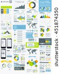 flat elements of infographics   ... | Shutterstock .eps vector #451874350