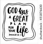 god has a great plan for your... | Shutterstock .eps vector #451876630