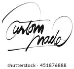 custom made title   hand... | Shutterstock .eps vector #451876888