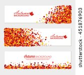 vector horizontal fall banners... | Shutterstock .eps vector #451876903