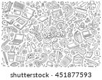 line art vector hand drawn... | Shutterstock .eps vector #451877593
