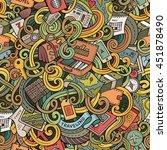cartoon cute doodles hand drawn ... | Shutterstock .eps vector #451878490