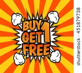 buy one get one free... | Shutterstock .eps vector #451879738