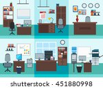 square isolated office interior ... | Shutterstock .eps vector #451880998