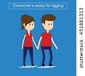 characters man and woman | Shutterstock .eps vector #451881313