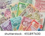 variety of the african banknotes | Shutterstock . vector #451897630