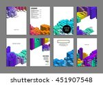 geometric cover background ... | Shutterstock .eps vector #451907548