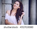 portrait close up of young... | Shutterstock . vector #451910080