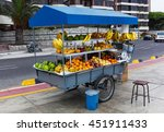 Tropical Fruits At A Street...