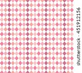 Diamonds Pattern Pink Isolated...