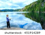 Lonely Little Child Fishing...