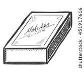 vector sketch closed matchbox | Shutterstock .eps vector #451917616