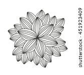 beautiful flower garden... | Shutterstock .eps vector #451923409