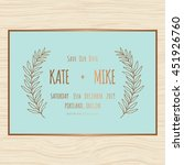 save the date  wedding... | Shutterstock .eps vector #451926760