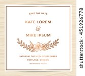 save the date  wedding... | Shutterstock .eps vector #451926778