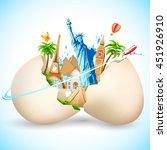 illustration of travel... | Shutterstock .eps vector #451926910