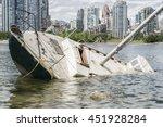 Sinking Sailboat Abandonned On...