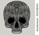 vector drawing of a skull from... | Shutterstock .eps vector #451928314