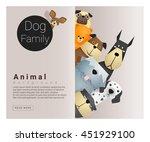 cute animal family background...   Shutterstock .eps vector #451929100