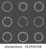 set of decorative round frames   Shutterstock .eps vector #451939258