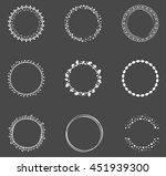 set of decorative round frames | Shutterstock .eps vector #451939300