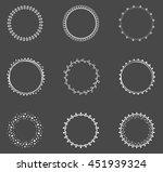 set of decorative round frames | Shutterstock .eps vector #451939324