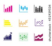 thin line set of charts  graphs ... | Shutterstock .eps vector #451939534