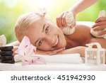 beautiful woman getting spa... | Shutterstock . vector #451942930