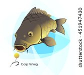 carp fishing  fish and lure ... | Shutterstock .eps vector #451947430