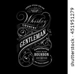 vintage whiskey label. hand... | Shutterstock .eps vector #451951279
