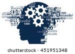 male head gear binary codes.... | Shutterstock .eps vector #451951348
