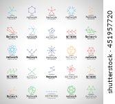 network icons set   isolated on ... | Shutterstock .eps vector #451957720