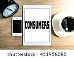 working office technology... | Shutterstock . vector #451958080