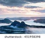 summer sunrise forest after... | Shutterstock . vector #451958398