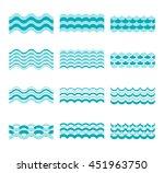 blue wave patterns   Shutterstock . vector #451963750