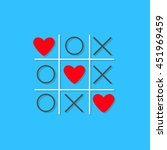 tic tac toe game with cross and ... | Shutterstock .eps vector #451969459