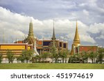grand palace and wat phra keaw... | Shutterstock . vector #451974619