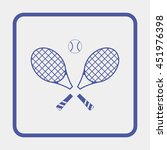 tennis rackets with ball icon. | Shutterstock . vector #451976398