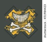dotwork tattoo styled skull...   Shutterstock .eps vector #451984423