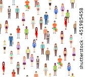 people seamless pattern | Shutterstock . vector #451985458