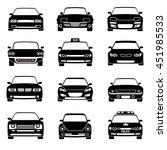 cars in front view icons | Shutterstock . vector #451985533