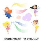 cute cartoon fairies set.