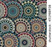 vector boho chic flower... | Shutterstock .eps vector #451988938