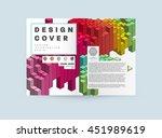 geometric cover background ...   Shutterstock .eps vector #451989619